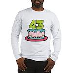 43 Year Old Birthday Cake Long Sleeve T-Shirt