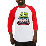 43 Year Old Birthday Cake Baseball Jersey