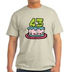 43 Year Old Birthday Cake Light T-Shirt