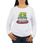43 Year Old Birthday Cake Women's Long Sleeve Tee