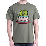 43 Year Old Birthday Cake Dark T-Shirt