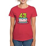 43 Year Old Birthday Cake Women's Dark T-Shirt