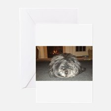 Sleeping dog 2 Greeting Cards