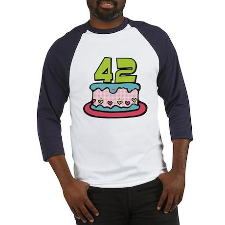 42 Year Old Birthday Cake Baseball Jersey