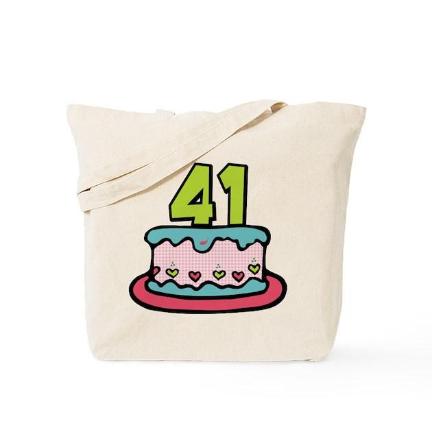 41 Year Old Birthday Cake Tote Bag By Keepsake_arts