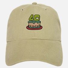 40 Year Old Birthday Cake Cap