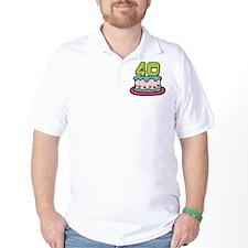 40 Year Old Birthday Cake T-Shirt
