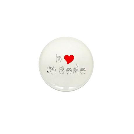 ASL I Love Jesus Mini Button