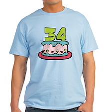 34 Year Old Birthday Cake T-Shirt