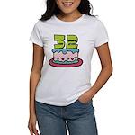 32 Year Old Birthday Cake Women's T-Shirt