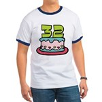 32 Year Old Birthday Cake Ringer T