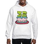 32 Year Old Birthday Cake Hooded Sweatshirt