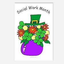 Social Work Month Vase Postcards (Pack of 8)