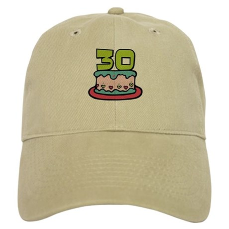 30 Year Old Birthday Cake Cap