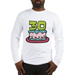 30 Year Old Birthday Cake Long Sleeve T-Shirt