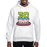 30 Year Old Birthday Cake Hooded Sweatshirt
