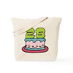 28 Year Old Birthday Cake Tote Bag