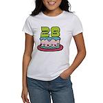 28 Year Old Birthday Cake Women's T-Shirt
