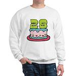 28 Year Old Birthday Cake Sweatshirt