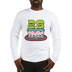 28 Year Old Birthday Cake Long Sleeve T-Shirt