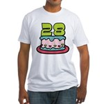 28 Year Old Birthday Cake Fitted T-Shirt