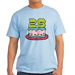 28 Year Old Birthday Cake Light T-Shirt