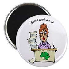 Social Work Month Desk Magnet
