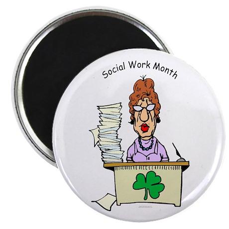 Social Work Month Desk Magnet