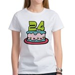 24 Year Old Birthday Cake Women's T-Shirt