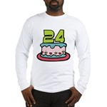 24 Year Old Birthday Cake Long Sleeve T-Shirt