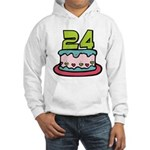 24 Year Old Birthday Cake Hooded Sweatshirt