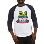 24 Year Old Birthday Cake Baseball Jersey