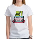 21 Year Old Birthday Cake Women's T-Shirt