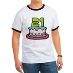 21 Year Old Birthday Cake Ringer T