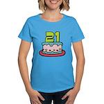 21 Year Old Birthday Cake Women's Dark T-Shirt