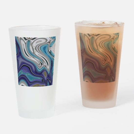 abstract blue marble swirls Drinking Glass