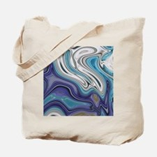 abstract blue marble swirls Tote Bag