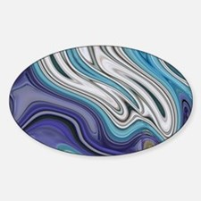 abstract blue marble swirl Decal