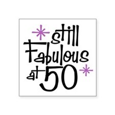 "Unique 50th birthday Square Sticker 3"" x 3"""