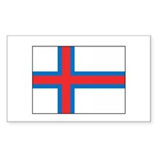 Faroe Islands Flag Heritage Rectangle Decal