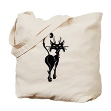 Pretty Black Cat Tote Bag