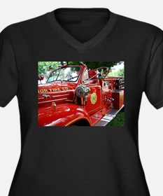 red fire engine 1 Plus Size T-Shirt