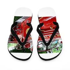 red fire engine 1 Flip Flops