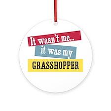 Grasshopper Ornament (Round)