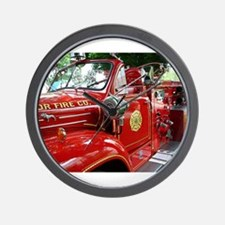 red fire engine 1 Wall Clock