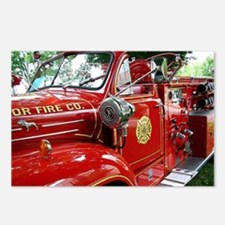 red fire engine 1 Postcards (Package of 8)