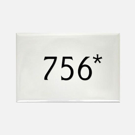 Bonds hits 756* - Rectangle Magnet