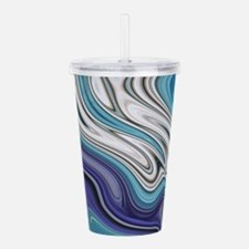 abstract blue marble s Acrylic Double-wall Tumbler