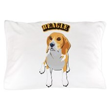 Beagle Dog with Text Pillow Case