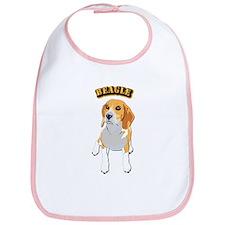 Beagle Dog with Text Bib